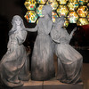 Boston: Actresses dressed as statues greet visitors to the Pompeii exihibit at the Museum of Science. Jim Vaiknoras/Staff photo