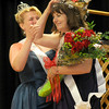 Topsfield:2011 Mrs Essex County Leah Moreschi helps the new Mrs Essex County, Belinda Barbas  with her crown at the pageant at the Topsfield Fair Sunday. Jim Vaiknoras/Staff photo