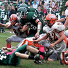 West Newbury: Pentucket's Nolan Dragon runs through traffic at home against Ipswich Saturday. JIm Vaiknoras/Staff photo