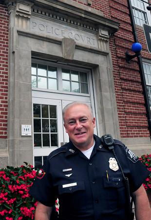 Newburyport: Retiring Newburyport police officer Ted Rice. Bryan Eaton/Staff Photo