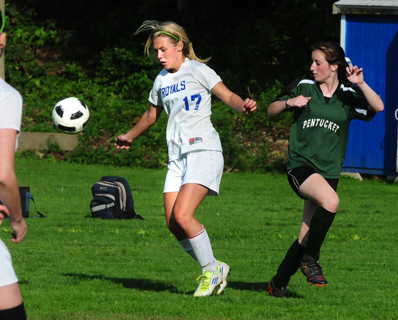Georgetown: Georgetown's Nicoline Holland scored the first goal of the game with Pentucket yesterday fittingly as she has set the program record for goals. Bryan Eaton/Staff Photo