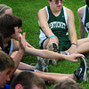 West Newbury: Eric Scott warms up with his cross country teammates. Bryan Eaton/Staff Photo