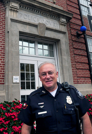 Newburyport: Retiring Newburyport police officer Ted Rice. Bryan Eaton/Staff Photo