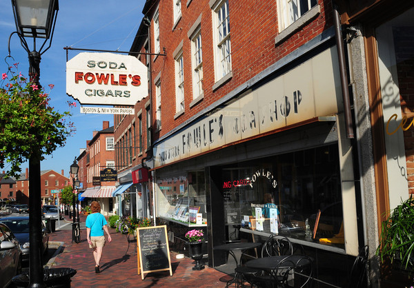 Newburyport: Leases for the newsstand and cafe that are housed in the landmark Fowle's in downtown Newburyport are up in May. Bryan Eaton/Staff Photo