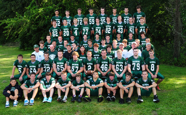 West Newbury: Pentucket Regional High School football players for 2011. Bryan  Eaton/Staff Photo