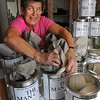 Newburyport: A worker at Plum Island Soap Company packs their Man Cans in this file photo several years ago. Bryan Eaton/Staff Photo