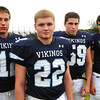 Byfield. Triton High football captains, from left, Blaise Whitman, Billy Murphy, Ryan Clay and Derek Paquette. Bryan Eaton/Staff Photo