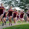 Newburyport: The Newburyport High girls cross country runners head out in a meet with North Andover.  Bryan Eaton/Staff Photo
