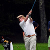 Rowley: Newburyport's Cam Caldwell tees off in a match with Hamilton-Wenham. Bryan Eaton/Staff Photo