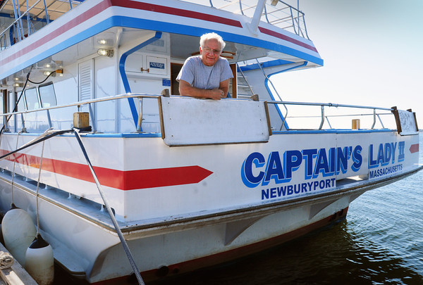 Newburyport: George Charos has received a partial grant to retrofit the two engines on the Captain's Lady II with newer, energy efficient ones. Bryan Eaton/Staff Photo