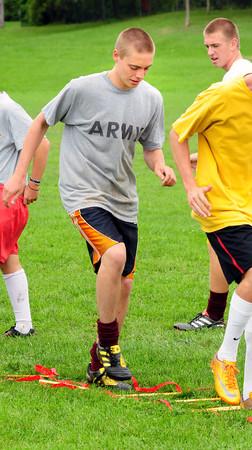 Newburyport: Matt Eagan goes through drills with his Newburyport High soccer teammates, but will be going through drills in the US Army next year. Bryan Eaton/Staff Photo