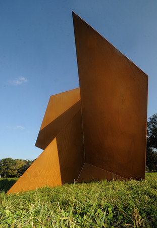 Newburyport: Waldo Evan Jespersen's sculpture Cubist Hotbed Pie at Maudslay. JIm Vaiknoras/Staff photo