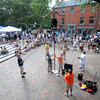 Newburyport: Street performer Alakazam wows the crowd on Inn Street during this weekend Newburyport Labor Day Festival. JIm Vaiknoras/Staff photo
