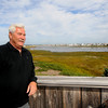 Newbury: Ron Barrett at his Plum Island home. Jim Vaiknoras/Staff photo