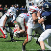 Lynnfield: Amesbury's Stephen Deas looks for yardage at Lynnfield Saturday. JIm Vaiknoras/Staff photo