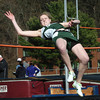 Newburyport: Pentucket's McKenna Kilian clears the bar in the high jump at Fuller Field. Bryan Eaton/Staff Photo