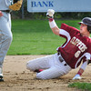 Newburyport: Clipper's Brett Fontaine makes a steal to second yesterday. Bryan Eaton/Staff Photo