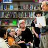 Newburyport: New Hampshire poet Ralph Fletcher speaks to children at the Molin Upper Elementary School. Bryan Eaton/Staff Photo