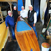 Newburyport: New curators of the Coachman property at Maudslay State Park will be Speedboard USA who make custom stand up paddle boats which plan to use the site for retail and training. In their shop on Low Street, from left, Bob Bobwitch, Nick Corvinus, Bob Blair and John Wilkinson. Bryan Eaton/Staff Photo