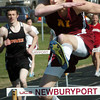 Newburyport: Newburyport's John O'Neil gets the win in the 400-meter hurdles. Bryan Eaton/Staff Photo