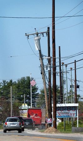 Salisbury: Taller utility poles have been put in along Route 110 in Salisbury.