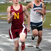 Newburyport: Newburyport Ryan Dionne wins the 100 meter dash. Bryan Eaton/Staff Photo