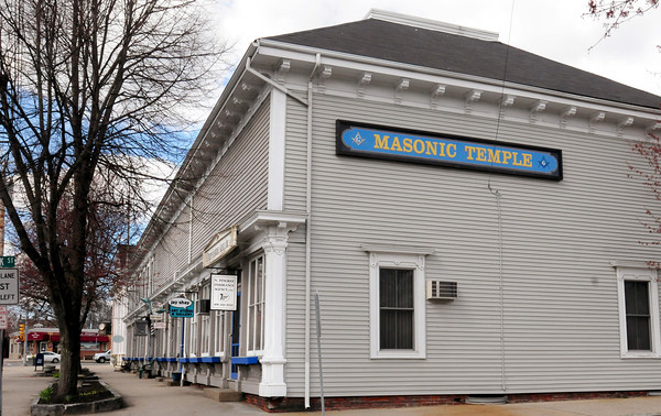 Georgetown: The Masonic Temple in Georgetown Square is also home to several businesses including a barber shop. Bryan Eaton/Staff Photo