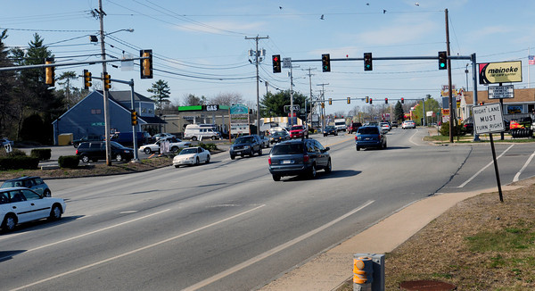 Seabrook: Seabrook teenager Matt Denis was riding his bike when he was struck by a motor vehicle Thursday afternoon on Route One in Seabrook at the intersection of Lake Shore Drive, left, and the entrance to Home Depot. Bryan Eaton/Staff Photo