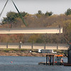 Amesbury: One of the I-beams are lowered into the Hines Bridge yesterday as the north span of the bridge connecting Deer Island with the Amesbury mainland gets near completion. Bryan Eaton/Staff Photo