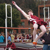 Newburyport: Newburyport's Tom Graham competes in the high jump at Fuller Field yesterday afternooon. Bryan Eaton/Staff Photo