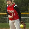 Groveland: Amesbury pitcher Carolina Merrill in action against Pentucket. Bryan Eaton/Staff Photo