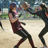Newburyport: Beth Castantini makes it to third and then went on to score a run as the throw went wide past Ipswich's Meghan Perella. Bryan Eaton/Staff Photo
