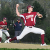 Byfield: Newburyport pitcher Brett Fontaine hurlsl against Triton. Bryan Eaton/Staff Photo