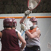 Newburyport: Newburyport lacrosse goalie in Dillon Guthro in practice yesterday. Bryan Eaton/Staff Photo
