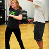 Amesbury: Natalie Dawes, 17, gets spun by Eric Eaton, 18, during dance lessons earlier this week at Amesbury High School. Bryan Eaton/Staff Photo