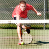 Byfield:  Amesbury's John Larnard during his match with Triton Brock Germinara Friday at Triton. JIm Vaiknoras/staff photo