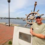 Newburyport: The 2012 chairman of Yankee Homecoming David Chretien at the Heather Lynn II Memorial in Newburyport. Jim Vaiknoras/staff photo