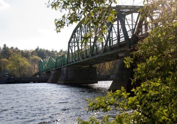 west Newbury: The Rocks Village Bridge spanning the Merrimack River from West Newbury to Haverhill. Jim Vaiknoras/staff photo