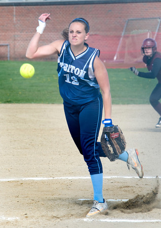 Byfield: Triton  pitcher Cori Simons fires one in against Rockport Friday night. Jim Vaiknoras/staff photo