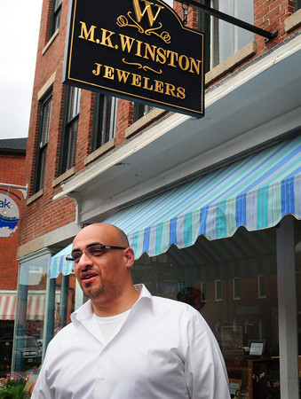 Newburyport: Matt Khatip, of M.K. WInston Jewelers on State Street in Newburyport talks about a pending lawsuit against his shop. Bryan Eaton/Staff Photo