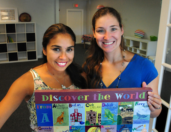 Salisbury: Mariana Ruiz Lynch, left, and Jennifer McCormick of North Shore Language Center in Salisbury. Bryan Eaton/Staff Photo