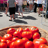 Newburyport: Tomatoes were everywhere at a busy Newburyport Farmers' Market on Sunday morning. Bryan Eaton/Staff Photo