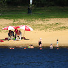 Amesbury: The beach at Lake Gardner in Amesbury has been busy all summer, but things were a little slow Tuesday as people are getting ready to go back to school next week. Bryan Eaton/Staff Photo