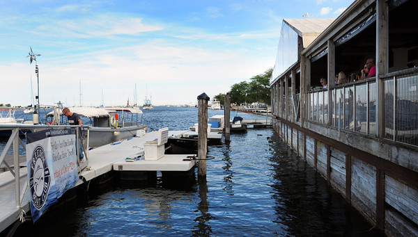Newburyport: The Waterfront Trust is looking at possibly putting more docks behind the Black Cow Tap and Grille. Bryan Eaton/Staff Photo