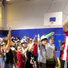 Salisbury: Mike Charles from Radio Disney  teaches some dance moves to children at the Boys and Girls Club in Salisbury. The club won two awards from National Grid for their green efforts in recycling and their participation in a community garden. Bryan Eaton/Staff Photo
