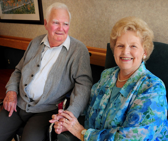 Amesbury: Norm and Evelyn Graham were married 66 years ago at the United Methodist Church in Amesbury. Norm moved into Maplewood Care and Rehabilitation Center four months ago and Evelyn visits every day. Bryan Eaton/Staff Photo
