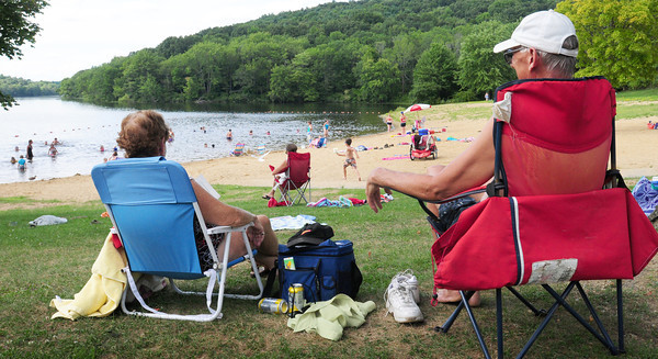 Amesbury: Lake Gardner Beach in Amesbury got a small crowd yesterday once the rain let up the sun came out. Today and especially tomorrow will be good days for the beach, though there is a chance of showers on the weekend. Bryan Eaton/Staff Photo