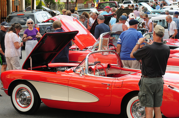 Newburyport: Many photos were taken of the vintage cars at the Cruisin' the 50's Night in downtown Newburyport on Thursday. Bryan Eaton/Staff Photo