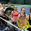 Newburyport: Newburyport Racquet Club members heading to the nationals, from left, Dan Cunningham, Nico Limacher, Alex Sulkin, Rachael Downey, Chris Kirkpatrick, Ashley Sulkin, Maggie Holland and Molly Alvino. Missing is Alec McNiff. Bryan Eaton/Staff Photo