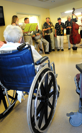 Newburyport: The Dick Kaplan Excellent Band performs at the Country Manor in the Nursing Home Concert Series. Bryan Eaton/Staff Photo